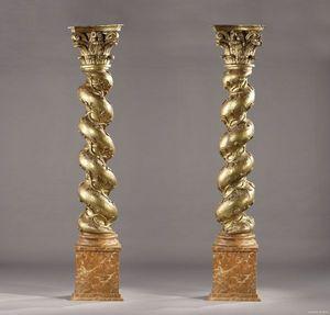 Galerie Atena - colonnes torsadées italiennes - Columna
