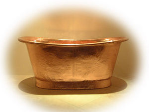 Brass & Traditional Sinks - josephine bathtub/ copper interior - Bañera Islote