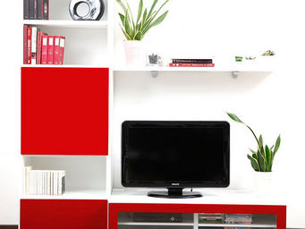 Miliboo - symbiosis compo 2 structure blanche - Mueble Tv Hi Fi