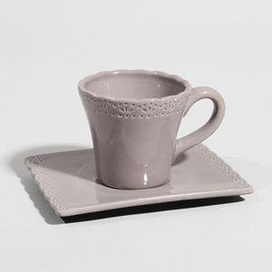 MAISONS DU MONDE - tasse à café romance gris foncé - Taza De Café