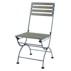 MAISONS DU MONDE - chaise anthracite garden party - Silla De Jardín