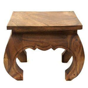DECO PRIVE - table basse opium 40 x 40 cm en bois claire - Mesa De Centro Cuadrada