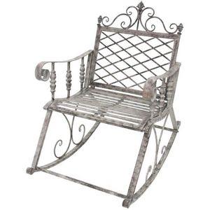 CHEMIN DE CAMPAGNE - fauteuil banc rocking chair en fer de jardin 100 c - Mecedora