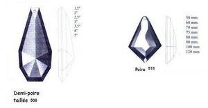 Falbala - demi poire - Candelero Con Cristales Colgantes