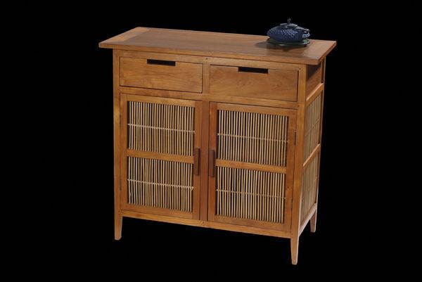 Matahati - Aparador alto-Matahati-Buffet Teck & Bambou avec tiroirs