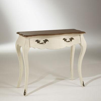 Robin des bois - Consola con cajones-Robin des bois-Console plateau chêne, 1 tiroir, couleur blanc d'