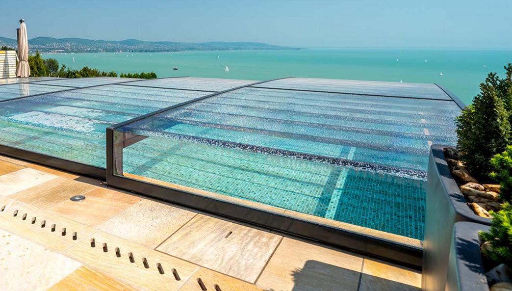 AQUACOMET Copertura scorrevole o telescopica per piscina Coperture per piscine Piscina e Spa  |