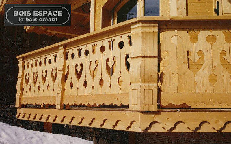 Bois Espace Parapetto balcone in legno Balconi Porte e Finestre  |