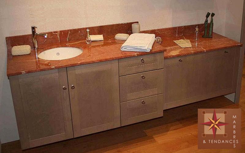 Marbres et Tendances Piano lavabo / lavandino Lavabi / lavandini Bagno Sanitari   |
