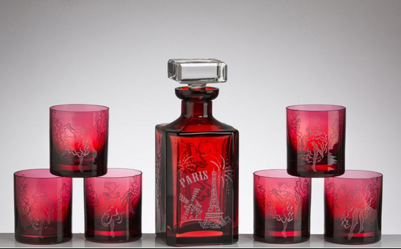 CRISTALLERIE DE MONTBRONN Servizio whisky Bottiglie e caraffe Bicchieri, Caraffe e Bottiglie  |