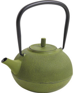 Aubry-Gaspard - théière en fonte verte 1.2 litres 19x16x10cm - Teiera