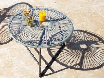 PROLOISIRS - table basse polo grise 60x60x40cm - Tavolo Da Giardino