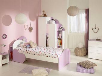 WHITE LABEL - chambre enfant complète (90*190/200) - lady - l 94 - Cameretta Junior 11 14 Anni
