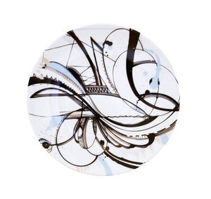 Haviland - intuition décor noir - Piatto Da Dessert