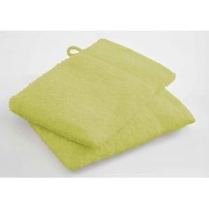 TODAY - lot de 2 gants de toilette - couleur - vert - Asciugamano Toilette