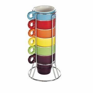 Delta - tour 6 tasses ristretto coloris assortis - Tazza Da Caffè