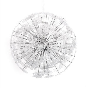 KOKOON DESIGN - suspension design flocons en métal chromé 73cm - Lampada A Sospensione