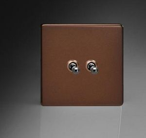 ALSO & CO - toggle switch moka - Interruttore Doppio