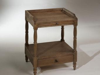 Robin des bois - table de nuit, chêne, 1 tiroir, 1 tablette couliss - Comodino
