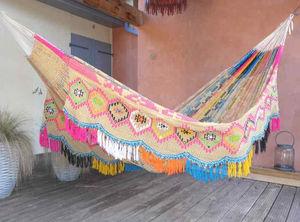 Hamac Tropical Influences - wayuu double face soleil maya - Amaca