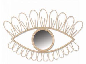 MAISON BOURGEOISE - oeil en rotin - Specchio