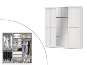 WHITE LABEL - armoire wilhem - Armadio Biancheria