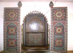 Artiwood Maroc - porte d'entrée en cèdre peinte a main - Porta D'ingresso A Due Battenti