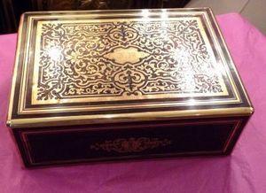 Art & Antiques - boite en marqueterie boulle xixe - Cofanetto Da Gioco