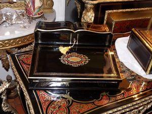Art & Antiques - ecritoire / porte lettres marqueterie boulle - Box Scrittoio