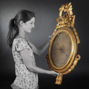 Expertissim - baromètre de style louis xvi - Barometro