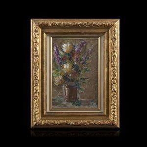 Expertissim - mimi verry, nature morte au bouquet de fleurs - Quadro Decorativo