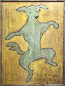 Sugarboo Designs - art print - dancing dog 3x4 - Quadro Decorativo Bambino