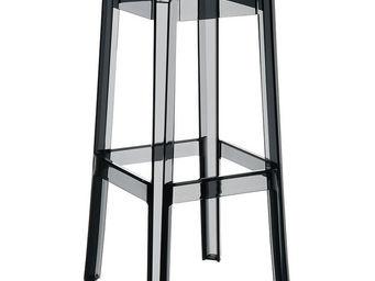 Alterego-Design - tabouret de bar 'leno' noir transparent en techn - Sgabello Da Bar