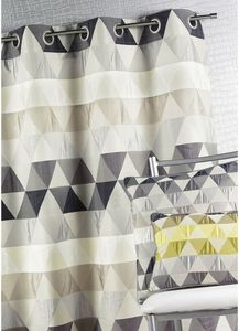 HOMEMAISON.COM - rideau ameublement en jacquard aux motifs géométri - Tende A Occhielli