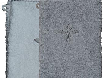 SIRETEX - SENSEI - gant eponge brodé pompadour 550gr/m² coton - Guanto Da Bagno