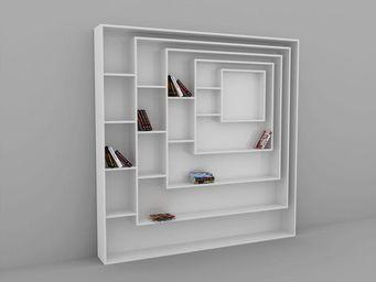 MALHERBE EDITION - bibliothèque carrée - Libreria Modulare