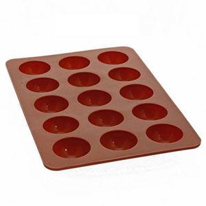 WHITE LABEL - moules à chocolat rond silicone de qualité profess - Stampo Per Dolci
