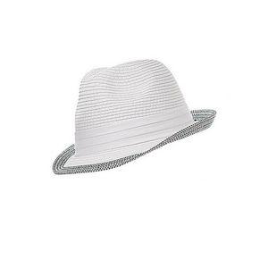 WHITE LABEL - chapeau trilby mixte polyester bord ton sur ton - Cappello