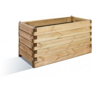 JARDIPOLYS - bac à fleur rectangulaire en bois 134 litres jardi - Fioriera