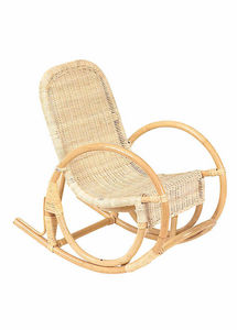 Aubry-Gaspard - rocking chair pour enfant en rotin - Poltroncina Bambino