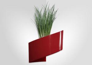 GREEN TURN - jardinière murale rouge modul'green 1 module 22x1 - Fioriera Da Muro