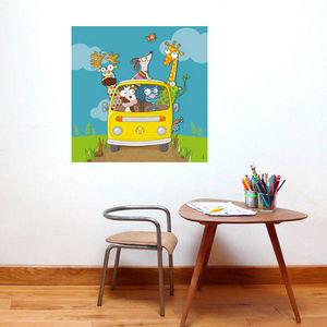 SERIE GOLO - en route ! - Quadro Decorativo Bambino