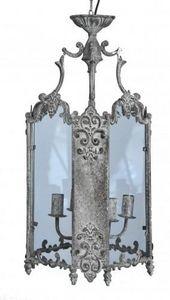 Demeure et Jardin - lanterne tôle grise - Lampada Sospesa Per Esterni