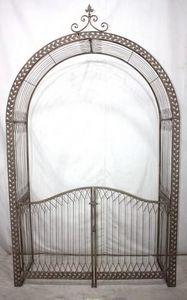 Demeure et Jardin - arche et portail de jardin en fer forgé - Cancello