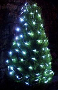 FEERIE SOLAIRE - guirlande solaire en filet 96 leds blanches 150x90 - Ghirlanda Luminosa