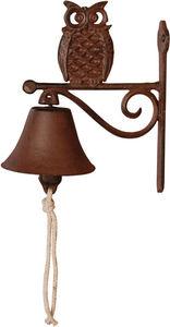 BEST FOR BOOTS - cloche de jardin chouette en fonte rouille - Campanella Da Esterno