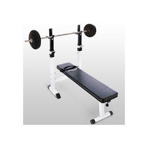 WHITE LABEL - banc de musculation avec set haltère 20 kg - Panca Muscolazione