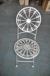 Demeure et Jardin - chaise pliante de jardin en fer forgé - Sedia Da Giardino