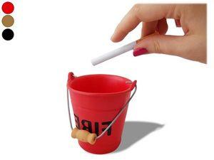 WHITE LABEL - cendrier seau fire avec anse noir accessoire fume - Posacenere