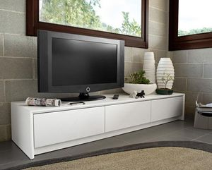 Calligaris - meuble tv password de calligaris blanc 3 tiroirs - Mobile Tv & Hifi